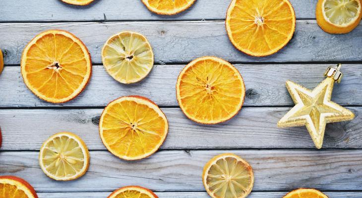 Як висушити лимон для декору