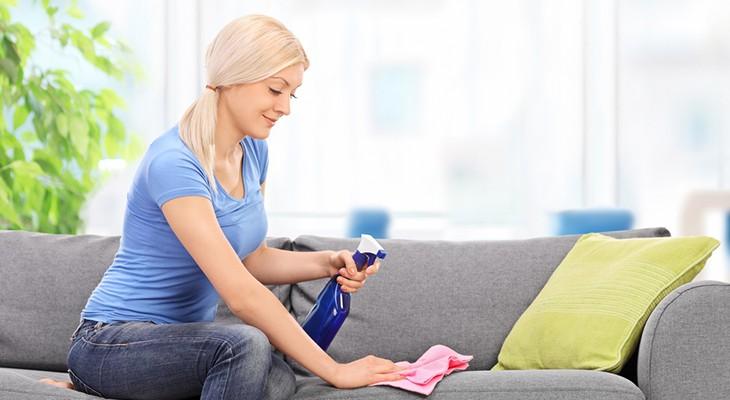 Чим почистити диван з флока в домашніх умовах