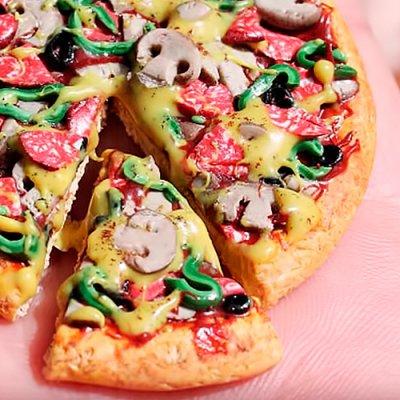 як зробити піцу для ляльок