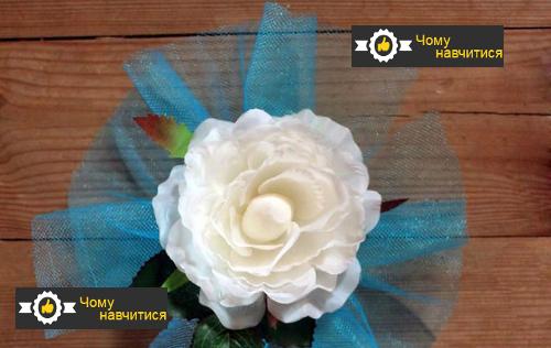 Трояндочки для кріпильних атласних стрічок