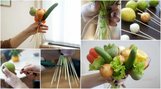 Дивовижний букет з овочів своїми руками