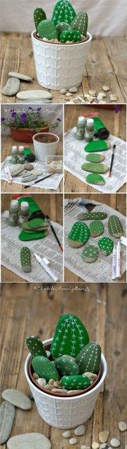 Декоративні кактуси з каменів своїми руками: детальний майстер-клас з фото