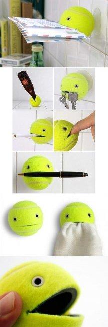 Тримач для різних речей своїми руками з тенісного м'яча
