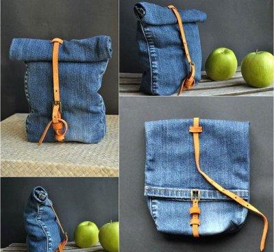 Майстер-клас: як зробити сумку з джинсів своїми руками в формі пакета