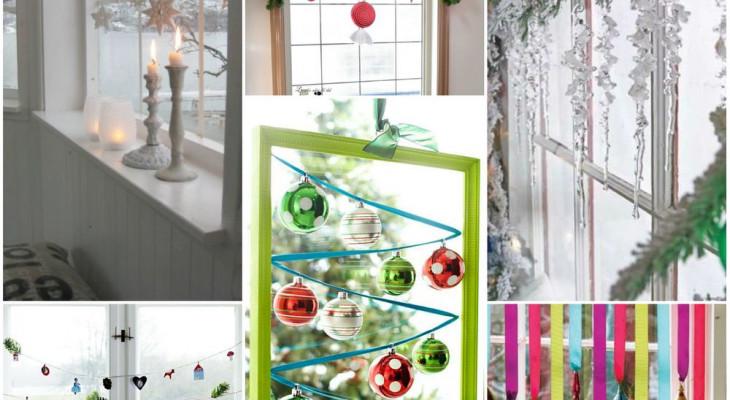 Прикраса вікон до Нового року: паперовий і фруктовий декор